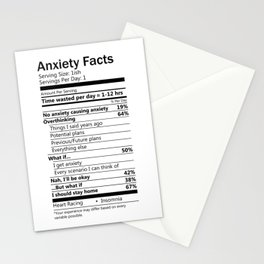 Anxiety Facts Stationery Cards