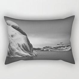 Icebergs in Black and White Rectangular Pillow