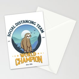 Sloth Social Distancing Team, Relax I Got This Stationery Cards