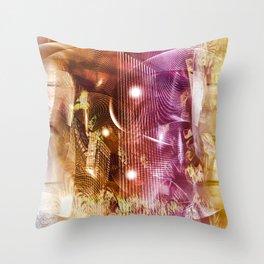 """""""Line & Shape: Inner City 2"""" Throw Pillow"""