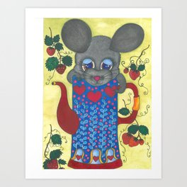 Cute mouse Art Print