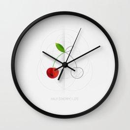HALF (cherry) LIFE Wall Clock