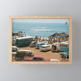 Vintage Beach Framed Mini Art Print