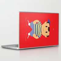 earthbound Laptop & iPad Skins featuring Ness - Earthbound - Super Smash Brothers - Minimalist by Adrian Mentus