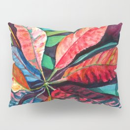 Colorful Tropical Leaves 2 Pillow Sham