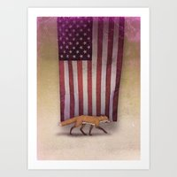 the Fox & the Flag Art Print