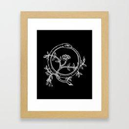 White Ouroborous  Framed Art Print