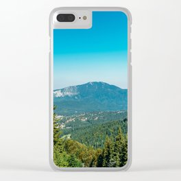 Mountains Landscape, Travel, Summer Landscape, Transylvania Mountains, Forests Of Romania Clear iPhone Case
