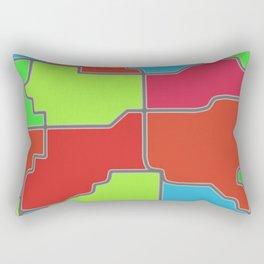shapes orange green red Rectangular Pillow