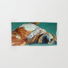 Johnny the Dog Rests Hand & Bath Towel