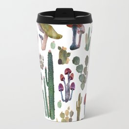 CACTUS AND MUSHROOMS NEW Travel Mug