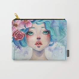 Blue Hair Carry-All Pouch