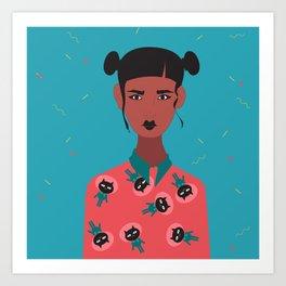 Hairbuns & PrintShirts Art Print