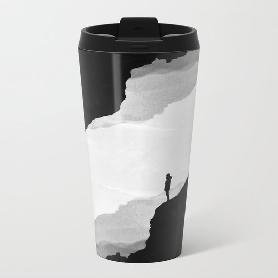 White Isolation Metal Travel Mug