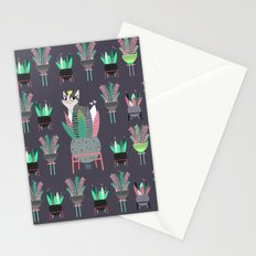Plants, pots and cats Stationery Cards