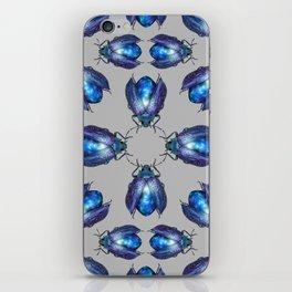 Black Opal Beetles Pattern iPhone Skin
