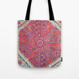 Large Medallion Suzani  Antique Uzbekistan Embroidery Print Tote Bag