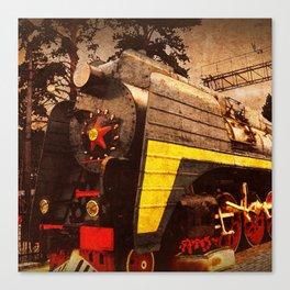 Steam Locomotive at the Kiev Railway Station                              Canvas Print