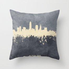 Cleveland Ohio Skyline Throw Pillow