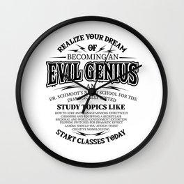 Evil genius supervillain world domination Gifts Wall Clock