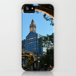 Downtown Boston at Dusk iPhone Case