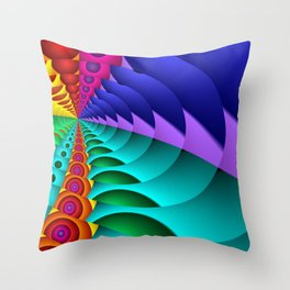 whirls of color -02- Throw Pillow