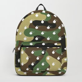 CAMO & WHITE BOMB DIGGITYS ALL OVER LARGE Backpack
