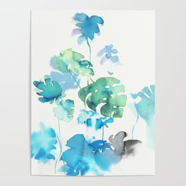 Tropical leaves, (collab Dylan Silva!) Poster