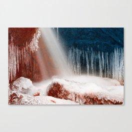 Winter Harmony Stream - Red White & Blue Canvas Print