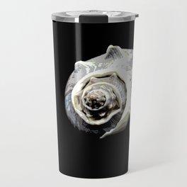 Spiral Shell on Black Travel Mug
