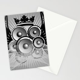 Abstract music illustration with wings Stationery Cards