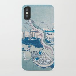Haku the dragon japanese vintage woodblock mashup iPhone Case