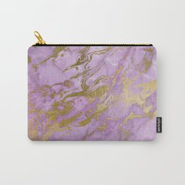 Lavender Gold Marble Carry-All Pouch