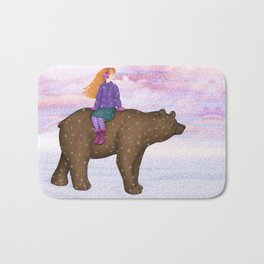 bear ride Bath Mat