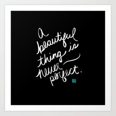 A Beautiful Thing (inverted) Art Print