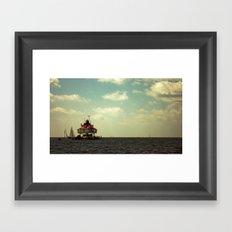 Sailing at Thomas Point Framed Art Print