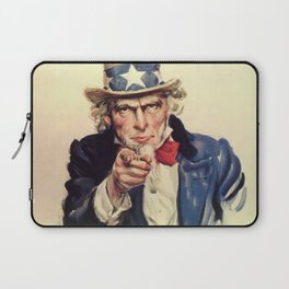 Uncle Sam War Poster Laptop Sleeve