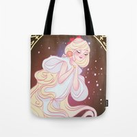 sailor venus Tote Bags featuring Sailor Venus by Dixie Leota