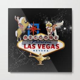 Las Vegas Welcome Sign Metal Print
