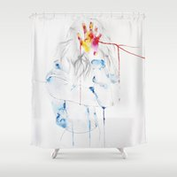 laura palmer Shower Curtains featuring Laura by Aimee Cosentino
