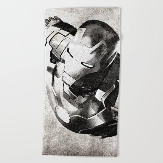 Iron Man III Beach Towel