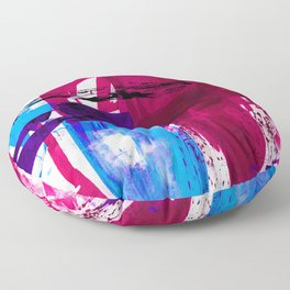 Teal Splendor No.1h by Kathy Morton Stanion Floor Pillow