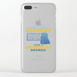 Mathematics Grandma Clear iPhone Case