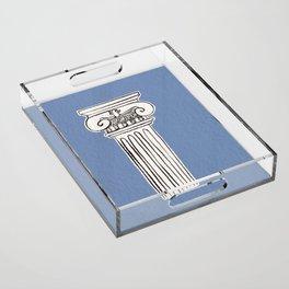 Greek ionic column Acrylic Tray