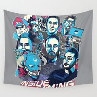 gaming Wall Tapestries featuring Inside Gaming by MikeRush