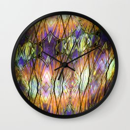 Wheels In The Sky Gold Burst Wall Clock