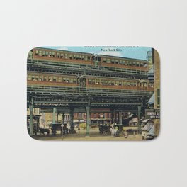 Bowery NYC Double Decker Elevated Train Bath Mat