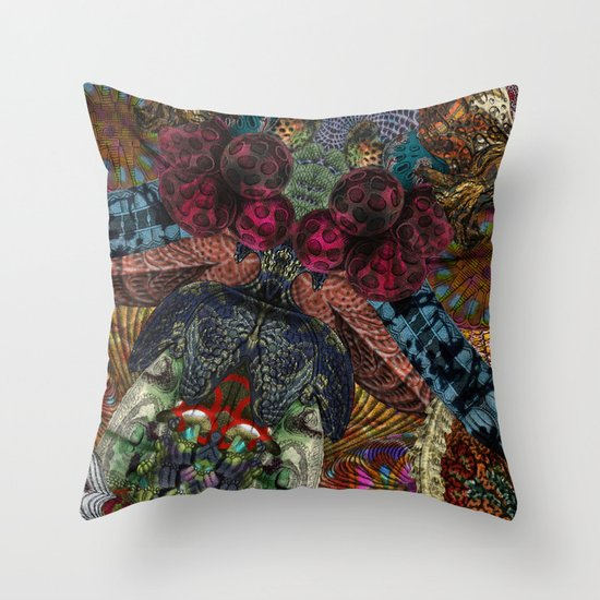 Psychedelic Botanical 14 Throw Pillow