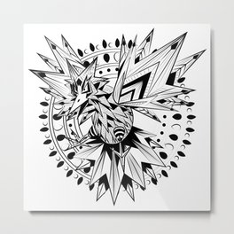 Thuder Bird - Black Metal Print
