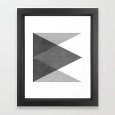 black and white triangles Framed Art Print